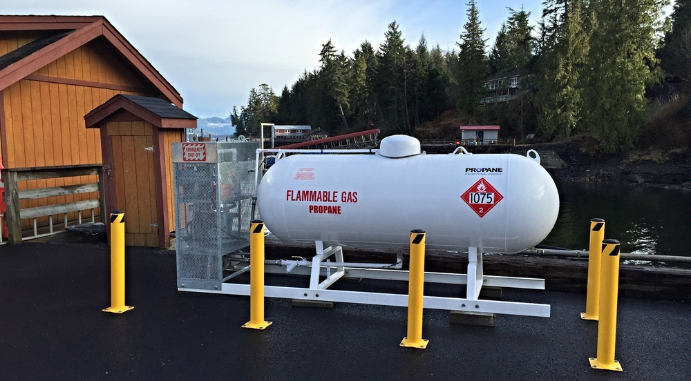 Get your propane cylinders filled at the cove!