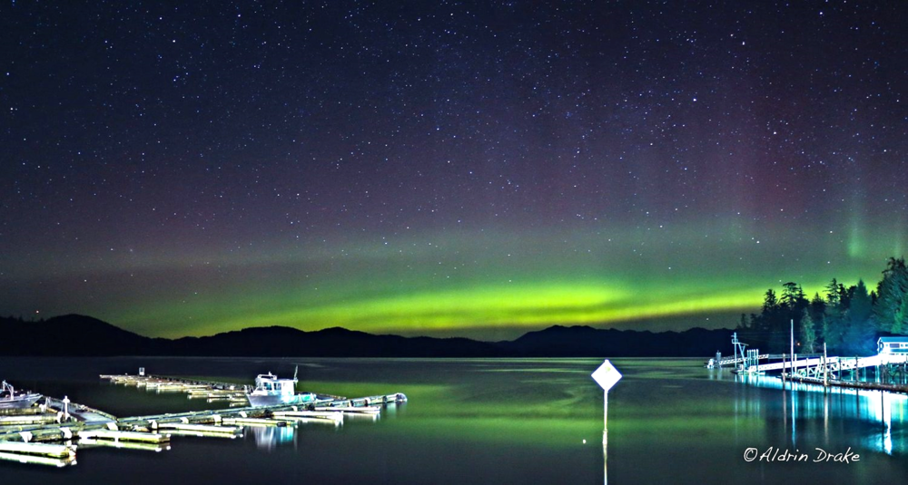 March 24th. Northern lights from knudson cove. Photo by Aldrin Drake.