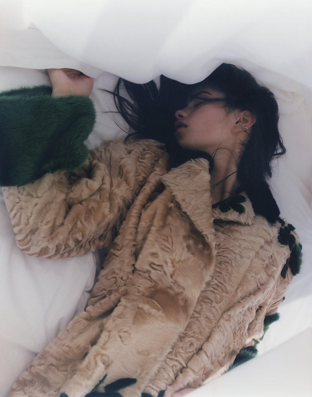 kim in bed, london 2017