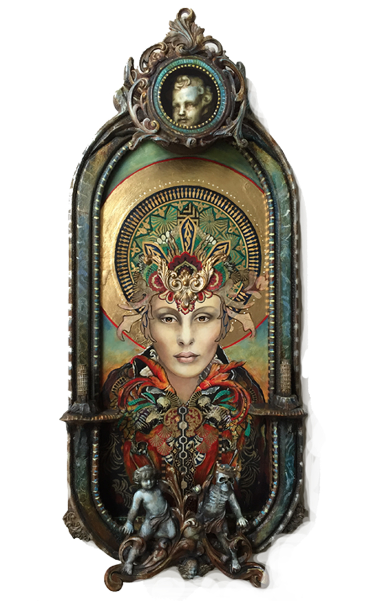 This piece is a collaboration between myself and Michael deMeng who used his master assemblage techniques to create the spectacular frame.