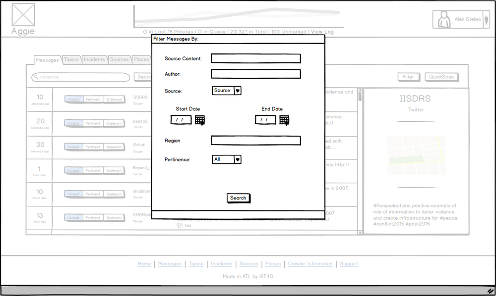 illustrating modal windows