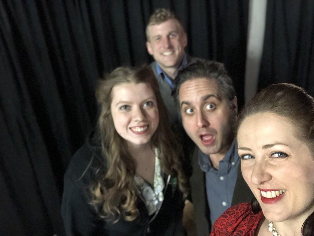 From Left: Colleen, Trevor, Adri, me