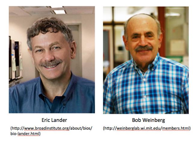 Eric Lander and Robert Weinberg
