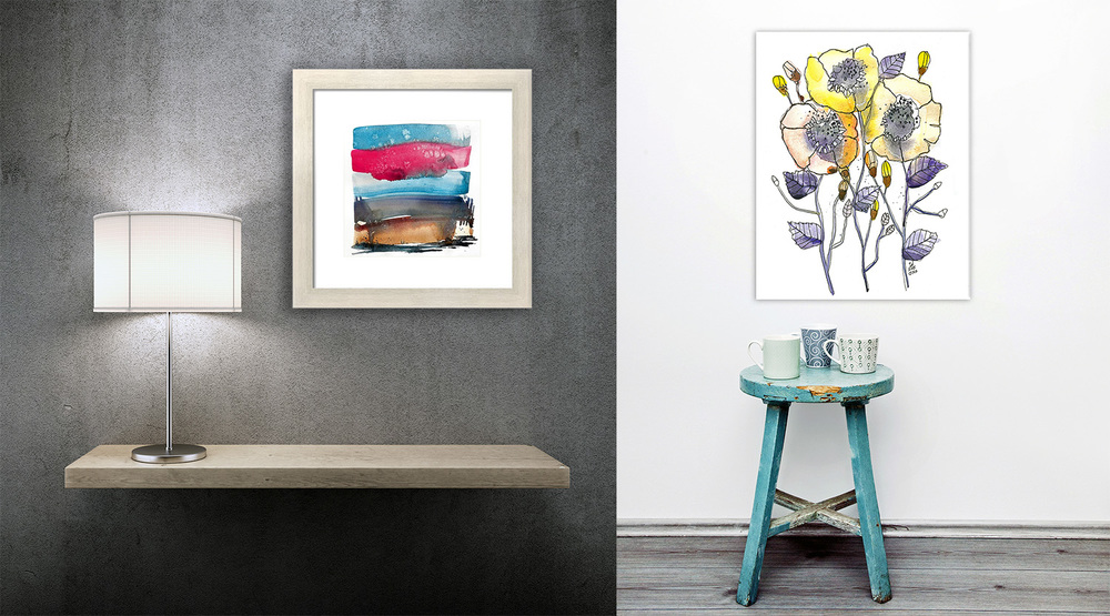 I hope these samples help you picture how beautiful art can transform a space. Everything I sell is available here.
