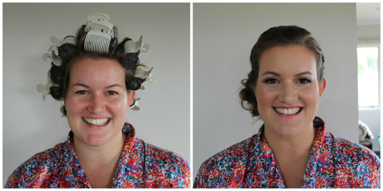 Airbrush Bridal Makeup Before And After : Lulus Beauty Boutique