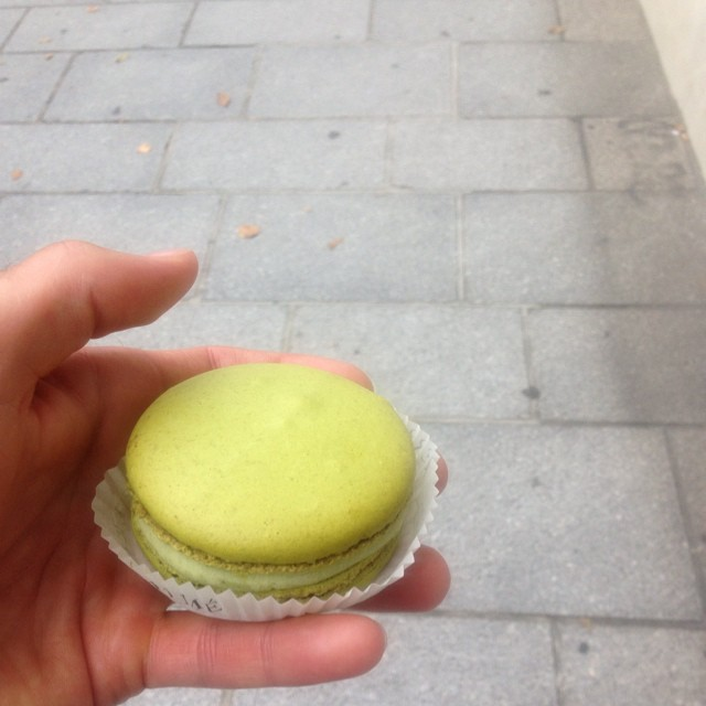 That my friends is a big macaroon.