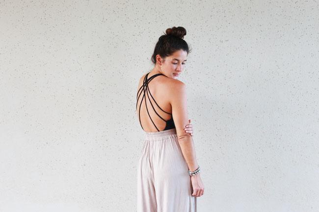 Suit: Issa de Mar, Pants: Salt Liko, Sandals: Céline, Bracelets: pearl.love Jewelry