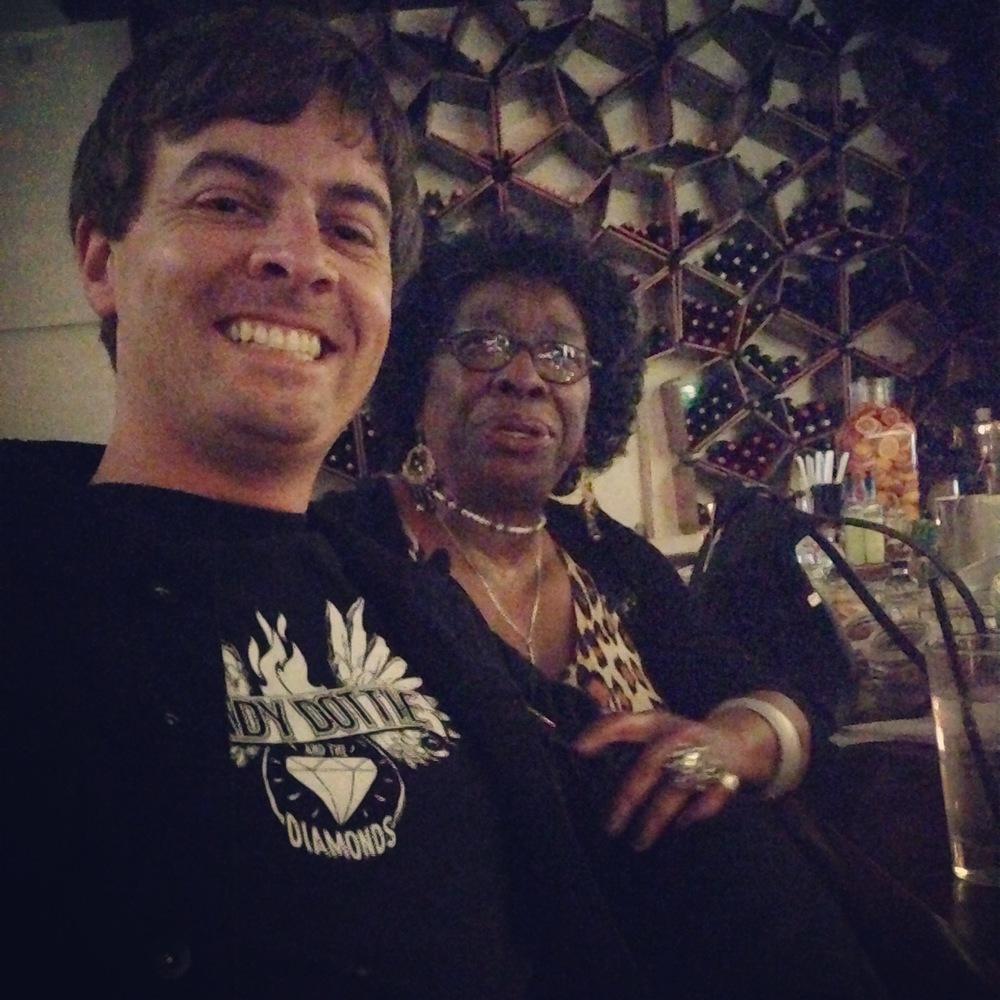 With Dottie at Café 21