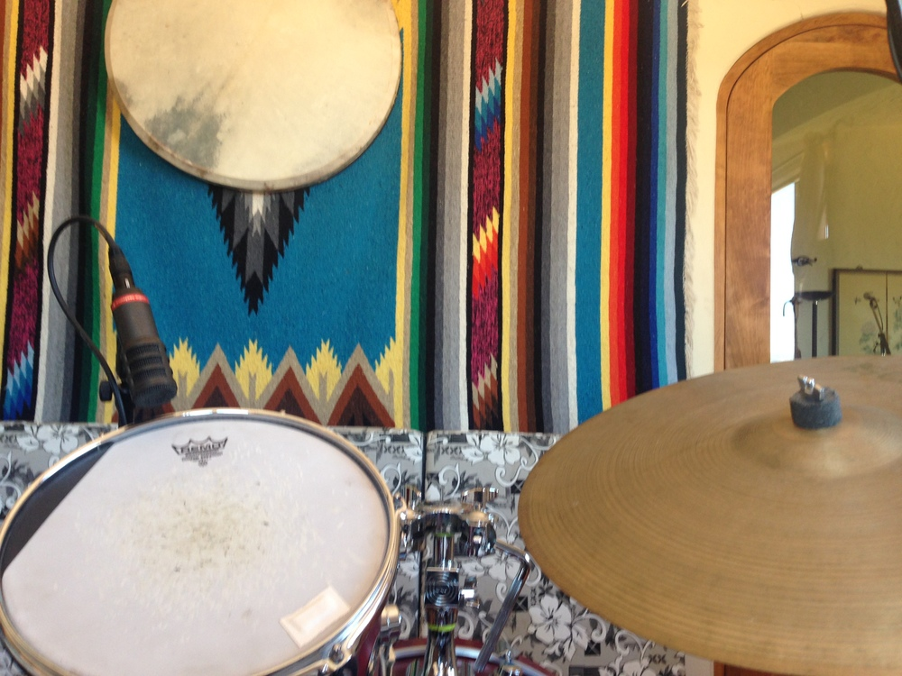 Drum Room/My office for the day. Photo by Anders Larsson