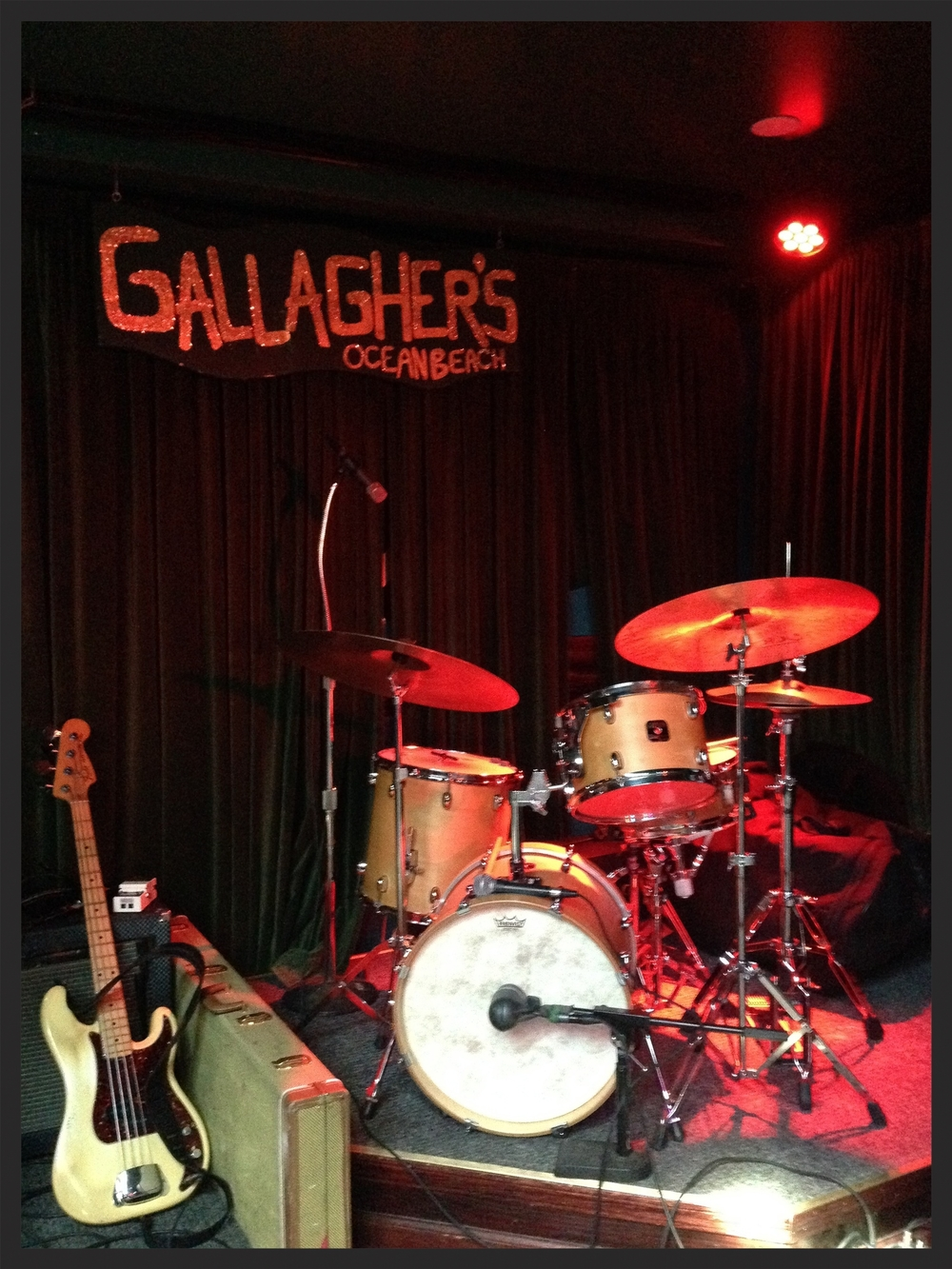 All set up at Gallagher's for the rock 'n roll dance party, courtesy Lady Dottie and the Diamonds. Photo by Anders Larsson