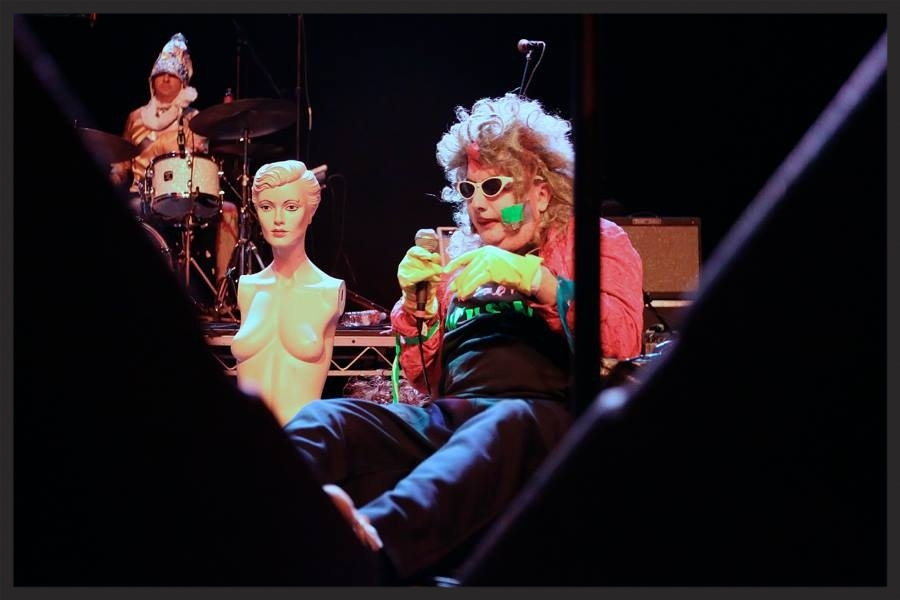 Drumming with Gary Wilson at a recent show at the Observatory, opening for Foxygen. Photo by Cortney Armitage