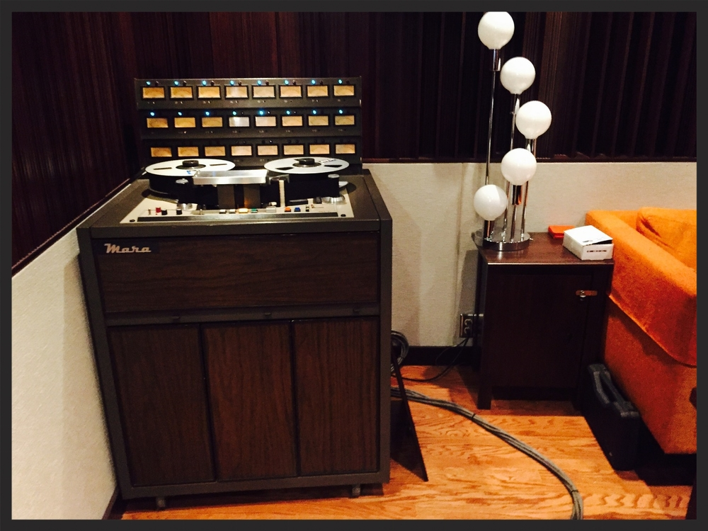 The Mara tape machine used by Chris Hobson and G Burns Jug Band on the Rarefied sessions.