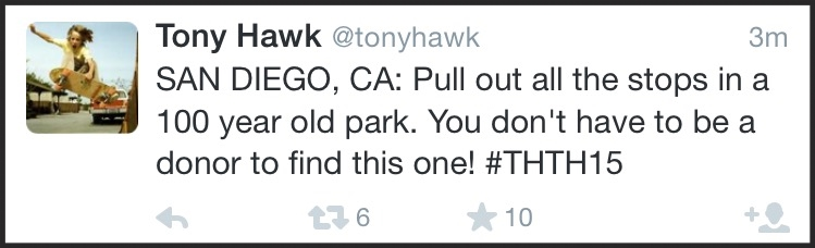 The clue I wrote, leading the lucky winner to the Spreckels Organ Pavillion in Balboa Park