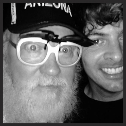 R. Stevie Moore and Anders Larsson in 2014. Photo by Bebe McPherson