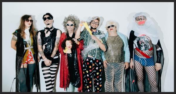 Gary Wilson and the Blind Dates.L-R: Danica Molenaar, Joe Guevara, Gary Wilson, Charlie Bottino, Ian McGehee, Anders Larsson. Photo by Jessy Parr, 2015