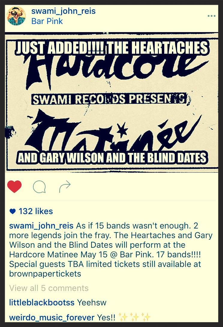 Swami John Reis announced the boys' appearance via Instagram