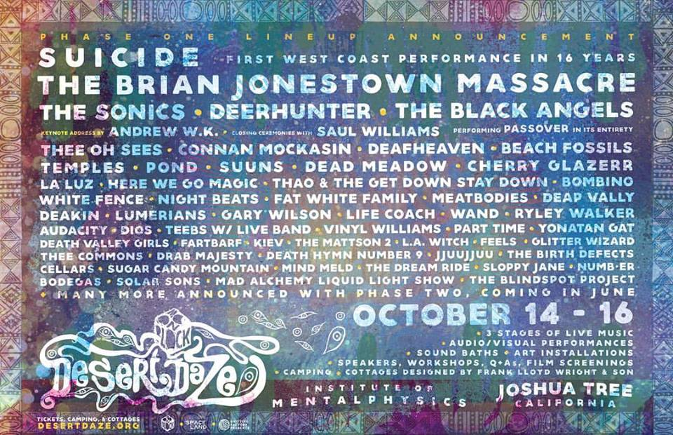 Desert Daze Lineup Phase One