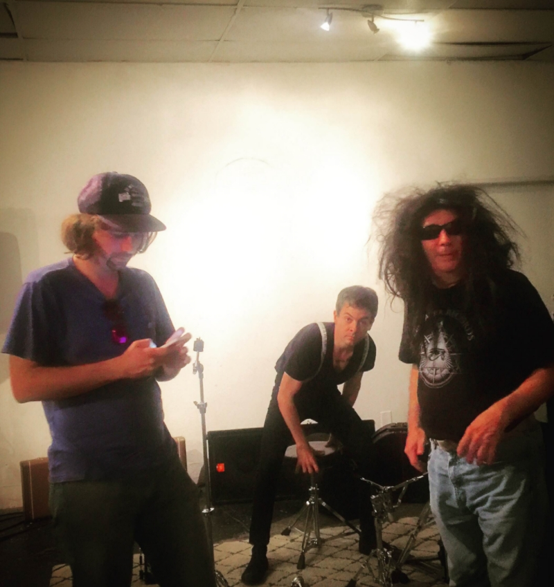 Jimmy, Yours Truly, and Gary setting up at Pehrspace in Los Angeles. Photo: Cameron Murray