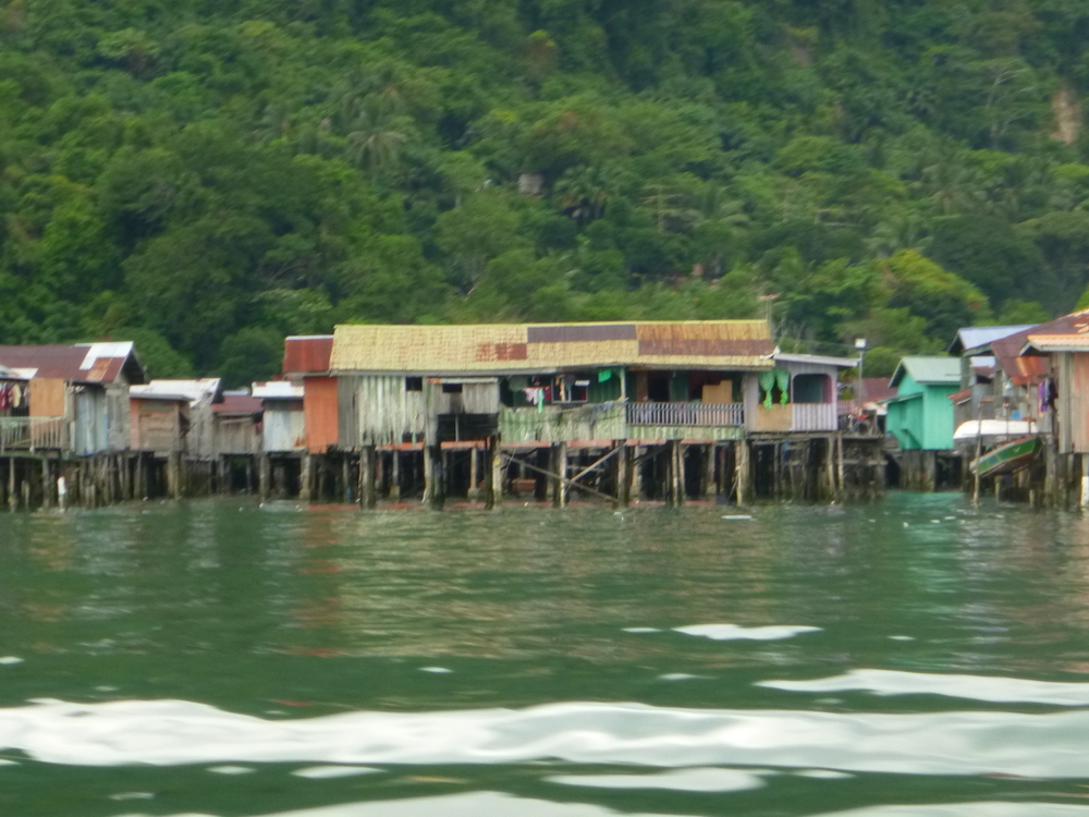 This is a stilt village on the coast of Sabah that we passed on the way to Pulau.