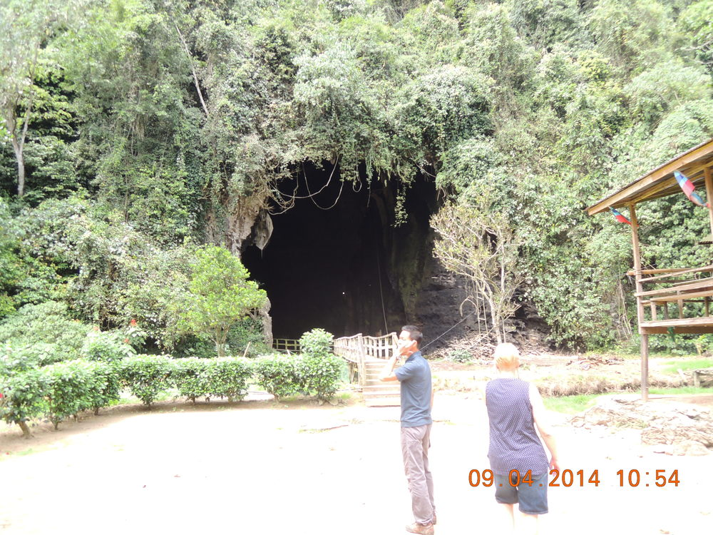 Michael and I approaching the cave.