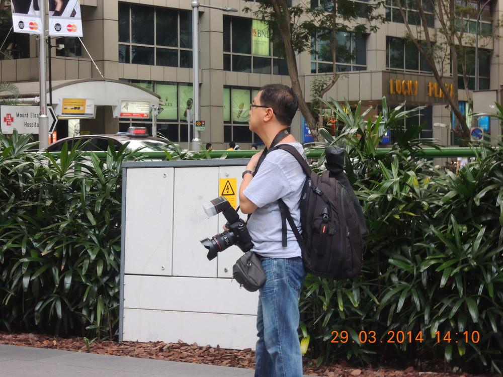 That's a big camera.