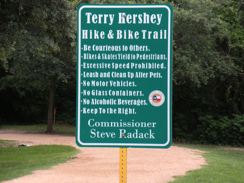 People need to be told how to use the trail, or else they'll misbehave for sure.