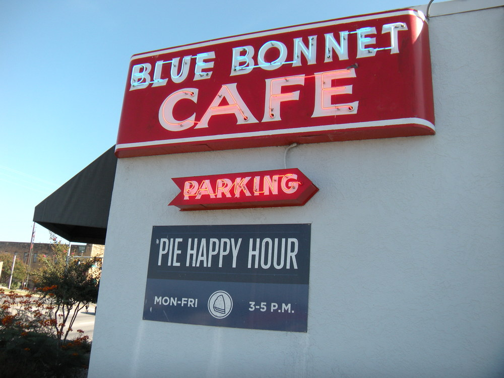 If you're in Marble Falls you've got to eat at the Bluebonnet Cafe--delicious food and small town atmosphere.