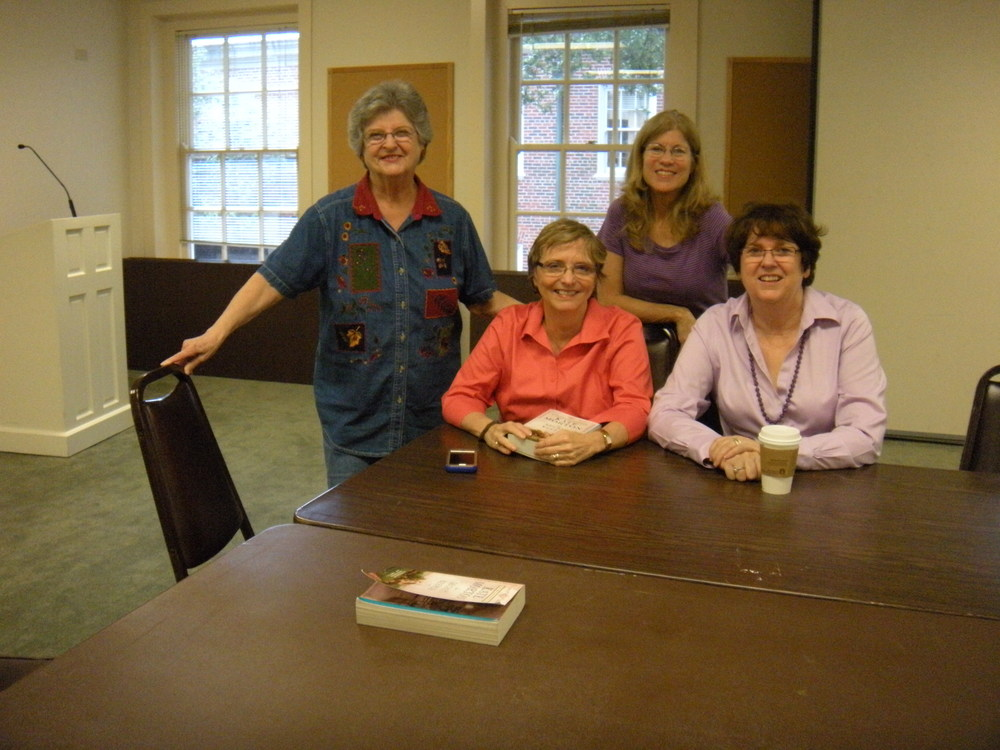 Jane, Janet, Diane, and Karen. We came a little early so we could have a gab.