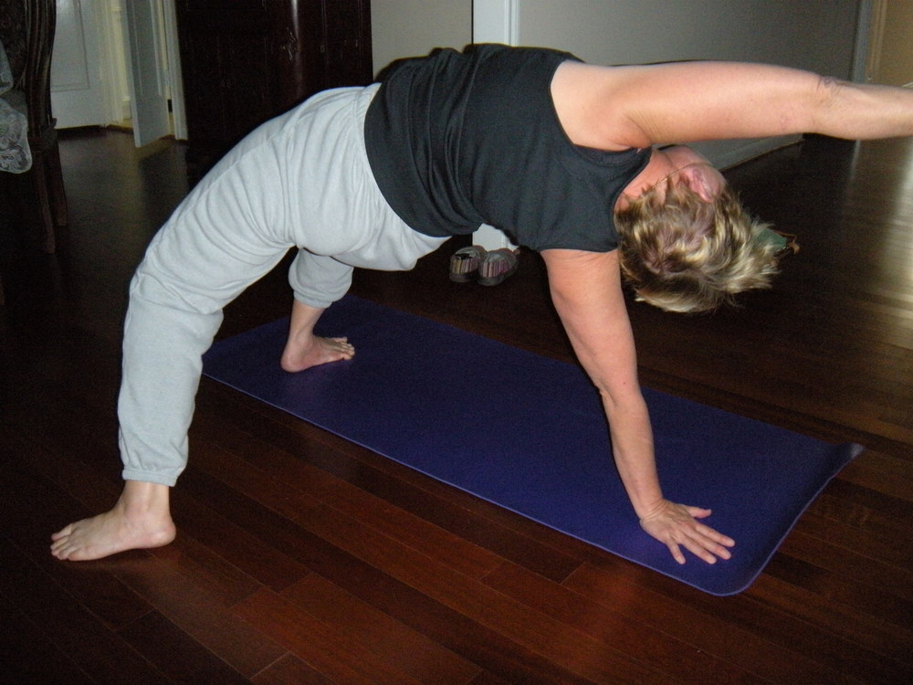 My form's horrible, bur, like I said, I'm strong and flexible.