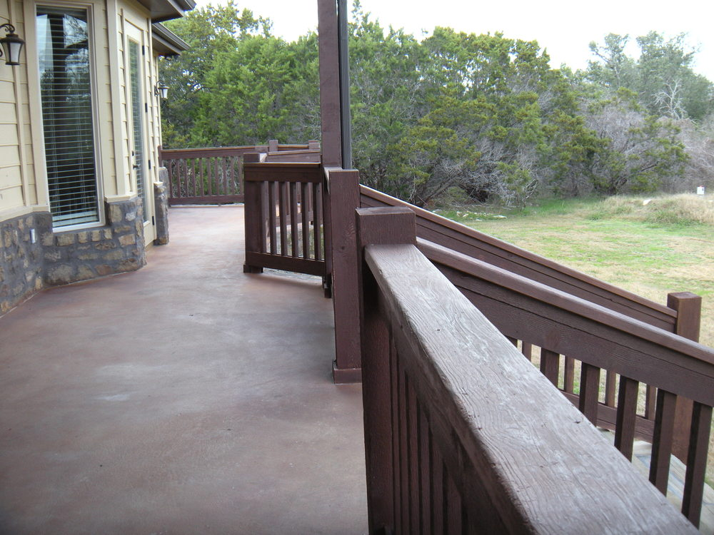 The back porch, lots of room for David to play with.