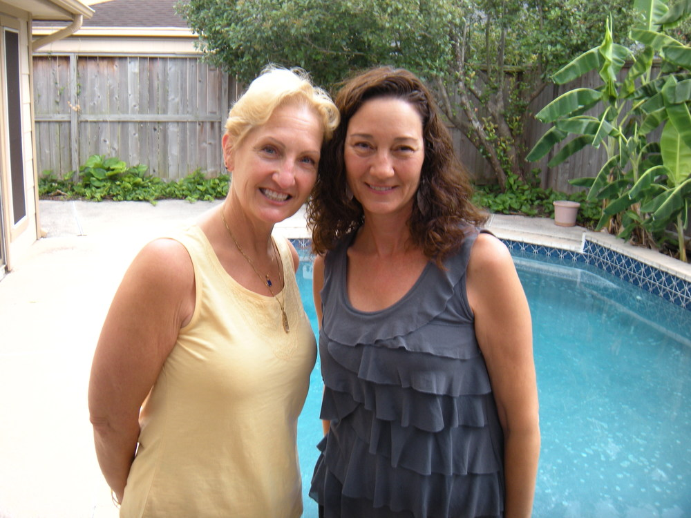 Diana and me. This was taken in June in Trina's back yard.