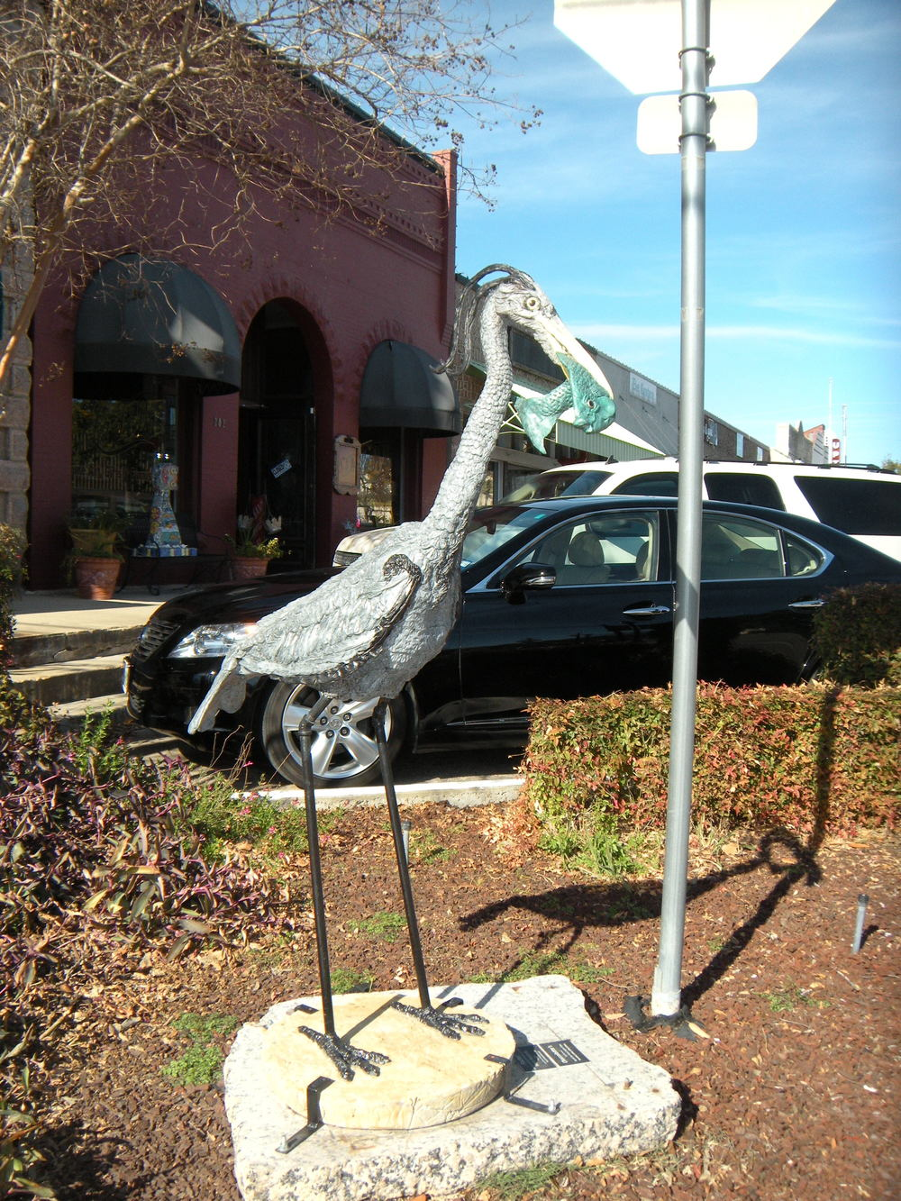 This is in Marble Falls, where there are interesting statues on every corner of Main Street.