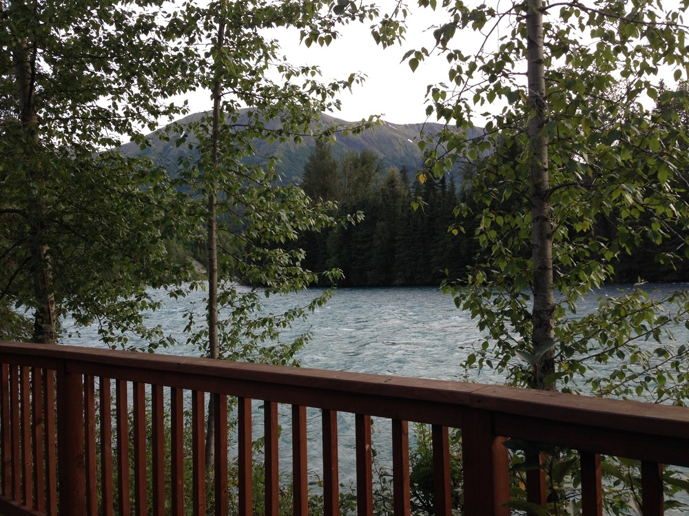The Kenai River from the viewing deck.