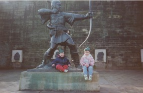 At the Robin Hood Statue in Nottingham