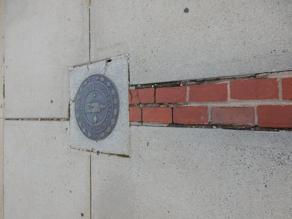The beginning of the Freedom Trail. Follow the red bricks for miles and miles and . . .
