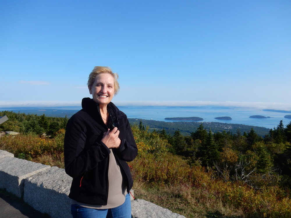 Taken on Cadillac Mountain. Acadia is majestic. See the fallen cloud in the background? I'm a little cold.