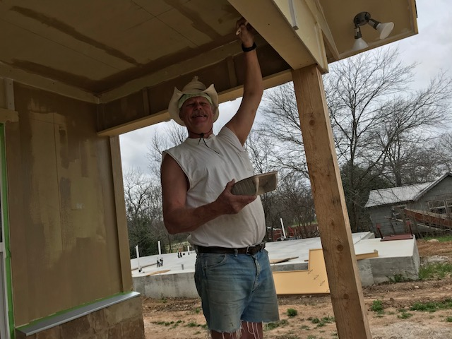 Our friend, Tom Luckenbach, tall enough to paint a ceiling without a ladder.