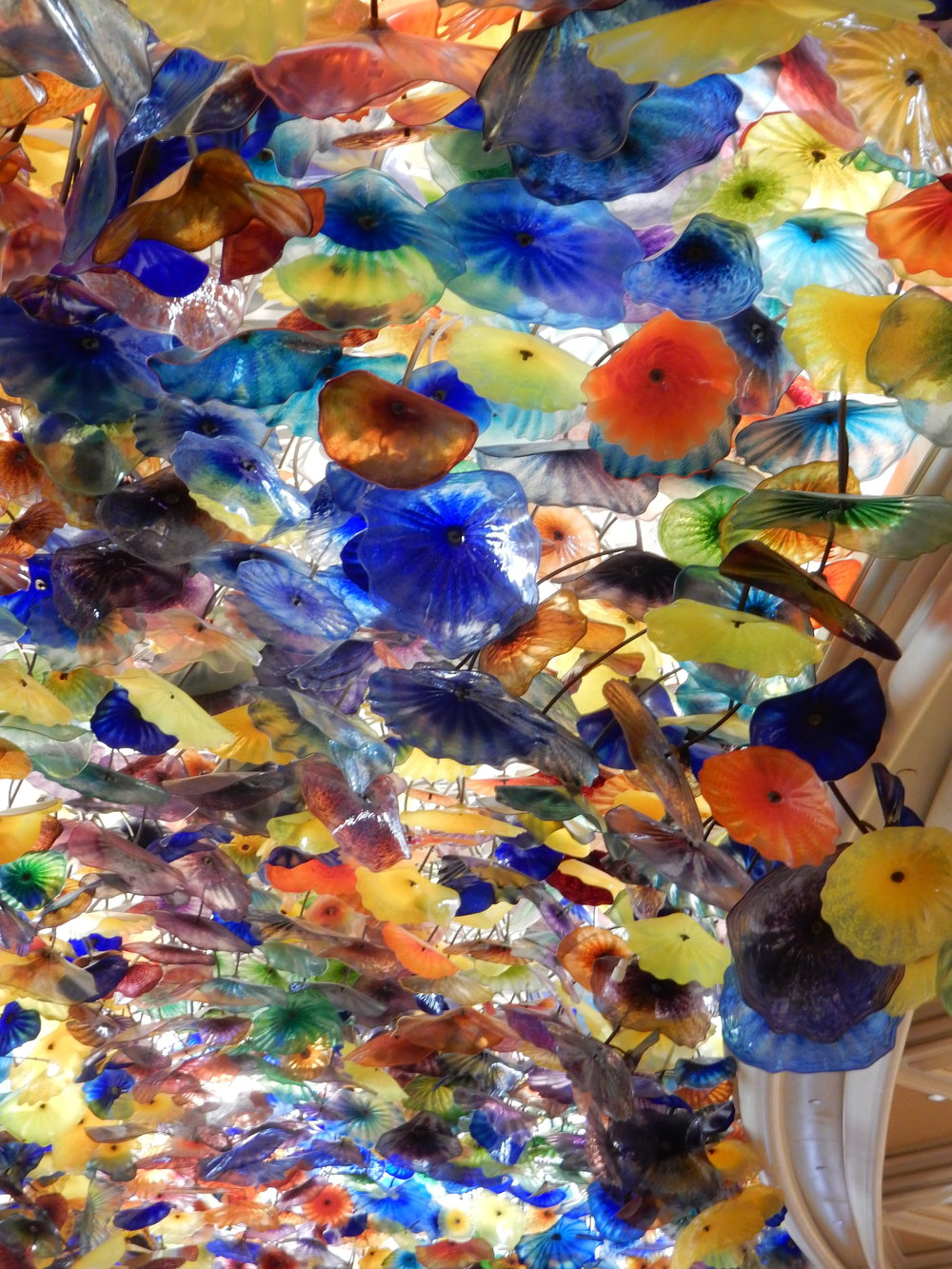 This is the central design in the ceiling of the lobby of The Bellagio. Gorgeous, right?