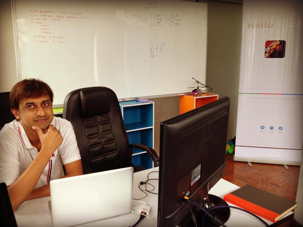 @Madhums in @jip_io's Mae Sot, Thailand office.
