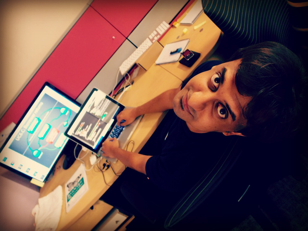 @madhums at work on @jip.io in the @changer office in Pune, India.