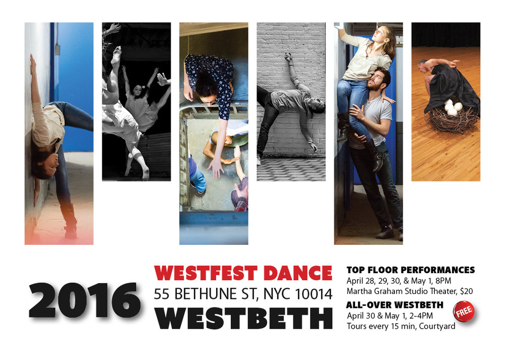 Official postcard of WestFest Dance Festival