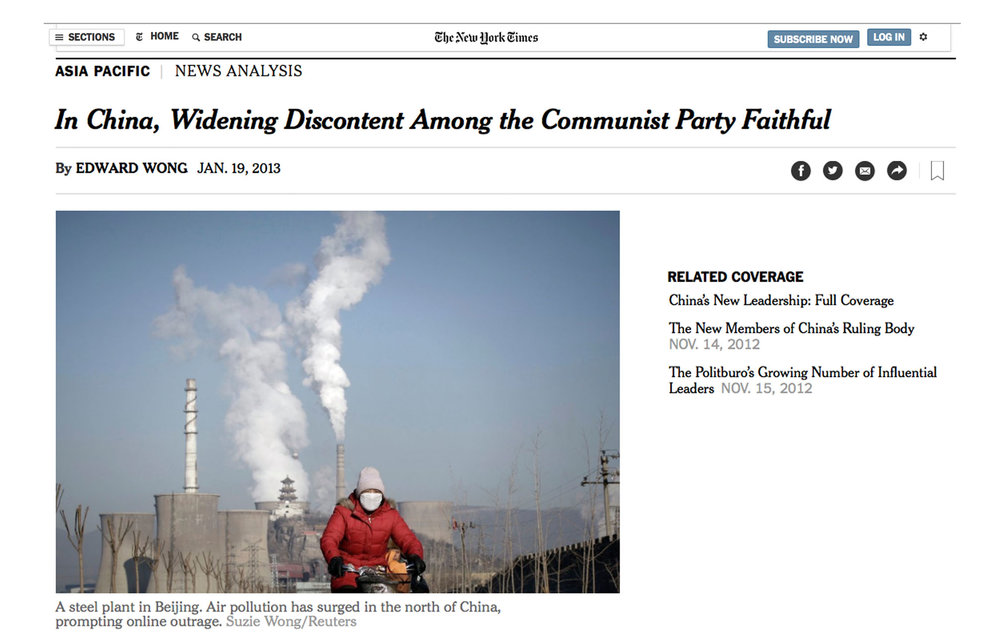 In China, Widening Discontent Among the Communist Party Faithful -