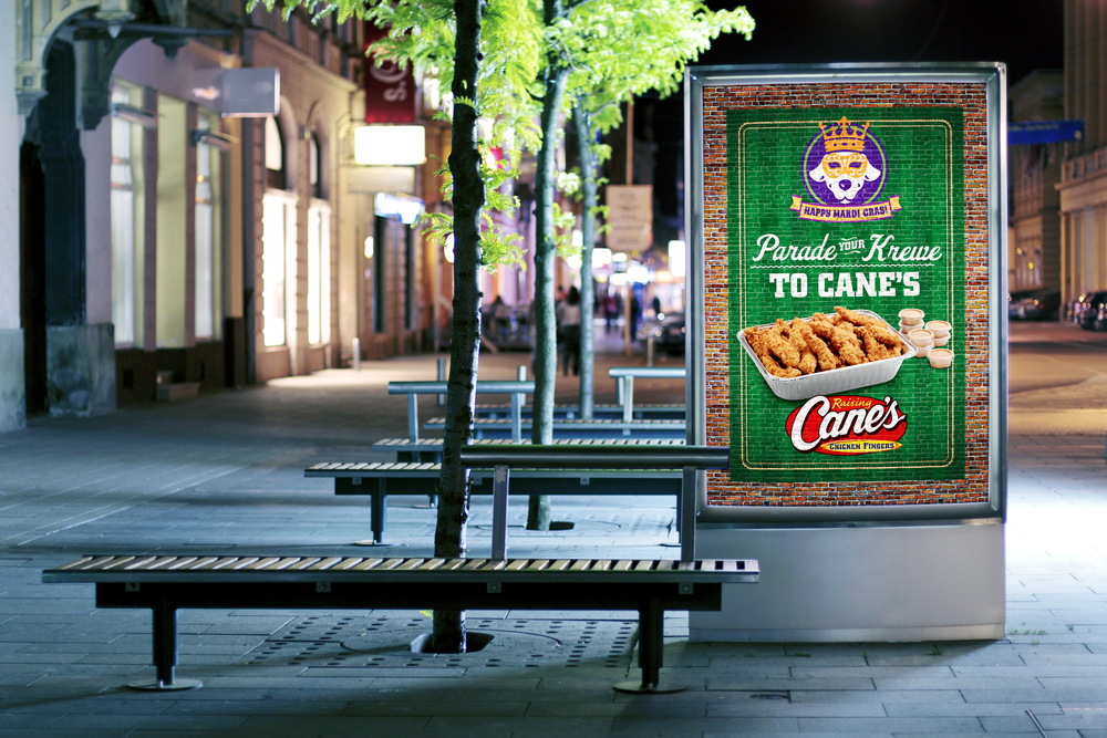 Raising Cane's Chicken Fingers Smartlite Panel created   for Diane Allen and Associates  .