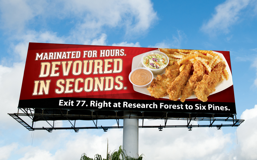 Raising Cane's Quality Message Billboard created for Diane Allen and Associates