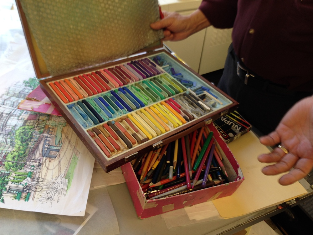 What??  Nupastels and a box of Prismacolors?  When was the last time anyone saw THOSE?