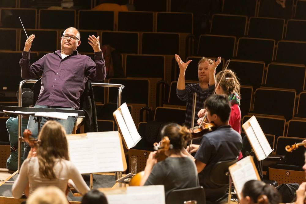 TFW und Peter Fox bei der Probe mit der Jungen Deutschen Philharmonie Foto: www.achim-reissner.de