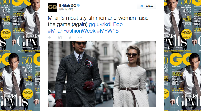 BRITISH GQ Twitter | JANUARY 2015 https://twitter.com/britishgq/status/557170235305111552