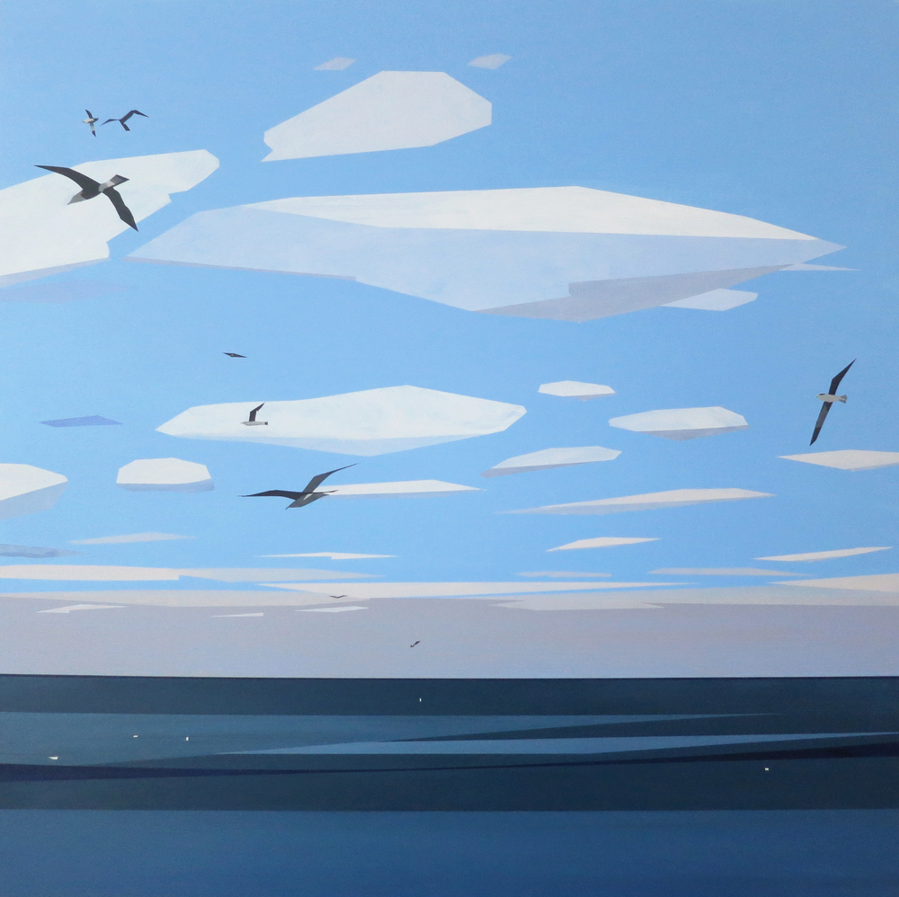 Gulls over Lake Michigan