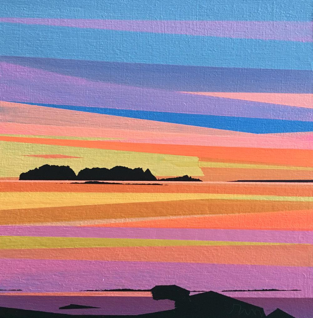 Southern Island, Orange Sky