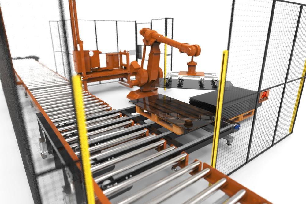 robotceller Tillsammans med våra samarbetspartners tillverkar JRL hela robotceller för tillverkningsindustrin. Exempelvis kan detta vara av och på plock till standardmaskiner JRL ombesörjer visionsystem och för lokalisering av produkter i produktion.